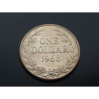 Либерия. 1 доллар 1968 год КМ#18а