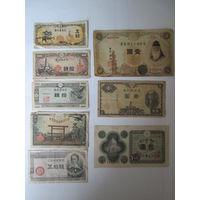Набор банкнот Японии распродажа. Старт с 1 рубля