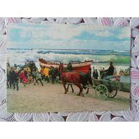 Винтажная открытка Дании. Северное море. 1965 г.
