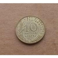 Франция, 10 сантимов 1977 г.