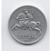 ЛИТОВСКАЯ РЕСПУБЛИКА 1 ЦЕНТ 1991. ПАГОНЯ.