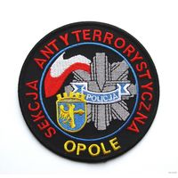 Шеврон Антитеррористической секции полиции г.Ополе, Республика Польша(распродажа коллекции)
