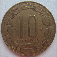 Центральная Африка 10 франков 1975 г.