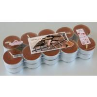 """Свеча чайная 12 гр ароматизированная в алюминиевой гильзе """"шоколад"""" с 1 рубля"""
