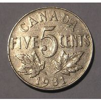 Канада 5 Центов 1931 (100)