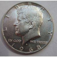 США, 1\2 доллара, 1968, серебро