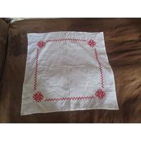 Скатерть и 6 салфеток вышивка хб