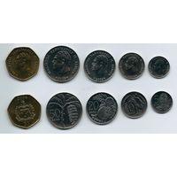 Самоа набор 5 монет 2002 - 2010 UNC