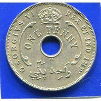 Британская Западная Африка 1 пенни 1947