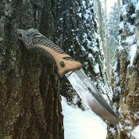 Нож реликт, резьба по дереву