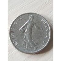 Франция 1/2 франка 1966г.