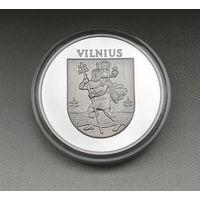 Монета, жетон, Вильнюс, серебро.
