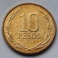 Чили, 10 песо 2014 г