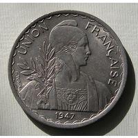 Сохран! Большая красивая монета! Французский Индокитай, 1 Пиастр 1947 (5)