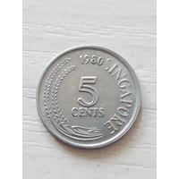 Сингапур 5 центов 1980г.