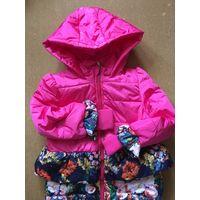 Пальто для девочки очень красивое на 5-6 лет Яркое нарядное НОВОЕ