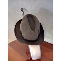 Шляпа фетровая 58 размера. Чехословакия, 70-х годов (фирма Jonar).Новая, без следов ношения.