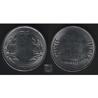 Индия km394 1 рупия 2011 год (нов.тип)симв.рупии (звезда)Хайдарабад (h01)