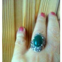 Кольцо с нат.камнем, 19 размер,б.у.