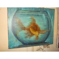 "Картина"" Рыбка"" Холст Масло"