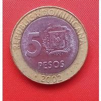 66-04 Доминиканская Республика, 5 песо 2002 г.