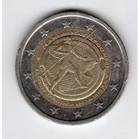 2 евро Греция 2010г. 2500 лет Марафонской битве.
