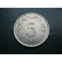5 центов 1977 г. Мальта.