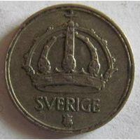 Швеция 10 эре 1949 серебро