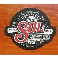 Подставка под пиво Sol No 15 /Мексика/