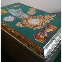 Большая коробка шкатулка футляр марки DEMARET металл середина прошлого века
