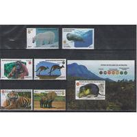 Куба Фауна 2017 год чистая полная серия из 6-ти марок и беззубцового блока