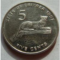 Эритрея 5 центов 1997 г