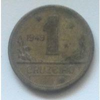 Бразилия 1 крузейро 1949