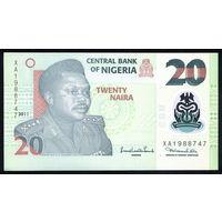 NIGERIA/Нигерия_20 Naira_2011_Pick#34.g_UNC