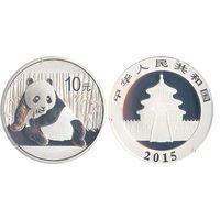 Китай 10 юань 2015 Панда серебро унция