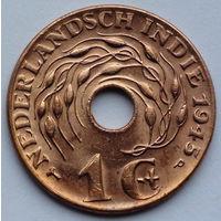 Голландская Ост-Индия 1 цент, 1945 (Р)