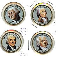 """США набор 2007 президенты США ЦВЕТНЫЕ """"золотые доллары"""" UNC"""