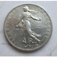 Франция 1 франк 1919. Серебро  .1Е-80