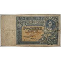 Польша 20 злотых 1931 г.
