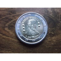 Бельгия 2 евро 2009     200 лет с рождения Луи Брайля