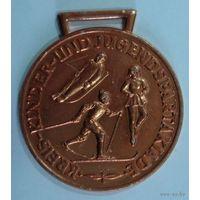Спортивная медаль ГДР. Алюминий. Размер 5см