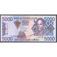Сьерра-Леоне 5000 леонес 2002 г. UNC  Пик 27a