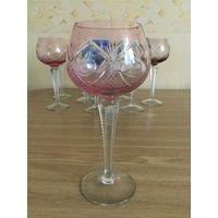 Фужер (бокал) для вина Лотос, розовый. Германия.