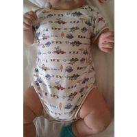 Боди на ребенка 3-6 месяцев, х/б (Германия)