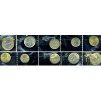 Болгария новая, комплект из 5 монет