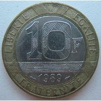 Франция 10 франков 1989 г.