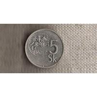 Словакия 5 крон 1993(Ah)