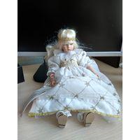 Фарфоровая кукла Рождественский Ангел коллекция Pauline's