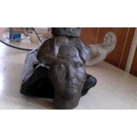 Скульптурный пластилин твёрдый бу 9,6 кг