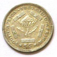 ЮАР, 5 центов 1961, серебро